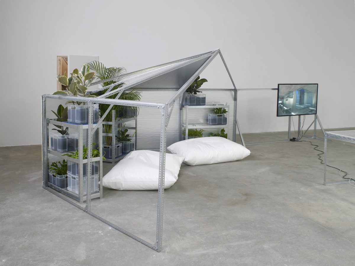 Yuri Pattison, Half Relief Shelter Zone for User Space (Hexayurt Configuration), 2016